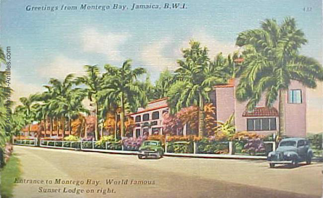 Sunset lodge jamaica postcards for Sunset lodge